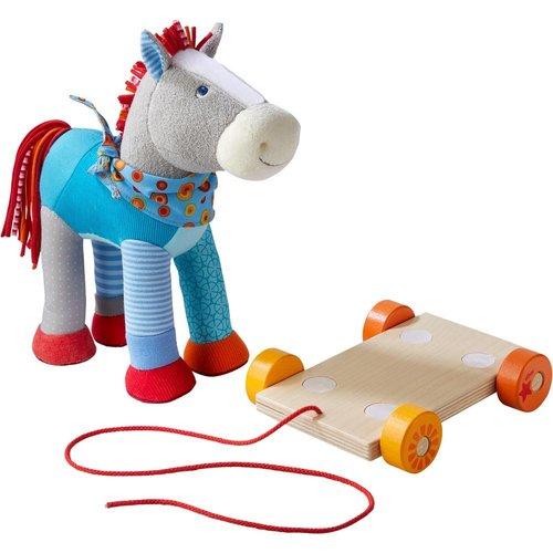 Haba Haba - Paard - Kakelbont - Met rolplank om vooruit te trekken