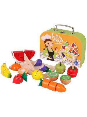 Njoykids Njoykids - Snijset - Fruit en groente - In koffer