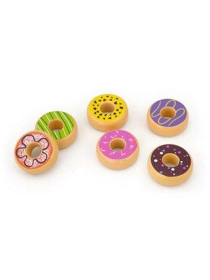 Vigatoys Speelgoedeten - Donuts - Set - 6dlg.