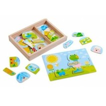 Haba - Puzzel - Grappige dierenmix - Hout - 30st.