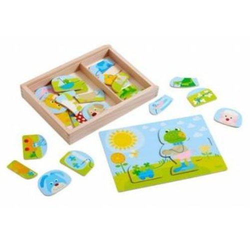 Haba Puzzel - Grappige dierenmix - Hout - 30st.