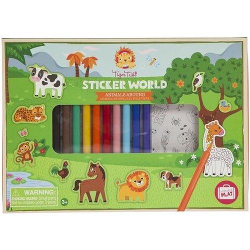 Tiger Tribe - Sticker wereld - Dieren in overvloed