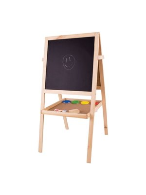 BigJigs Bigjigs - Schoolbord - Met krijtjes, wisser, verfbakjes en papierrol