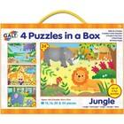 Galt Galt - 4 Puzzels in een doos - Jungle - 12/16/20/24st.