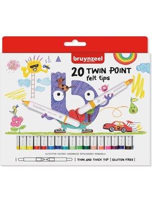 Bruynzeel Bruynzeel - Viltstiften - 20 Dubbelpunters