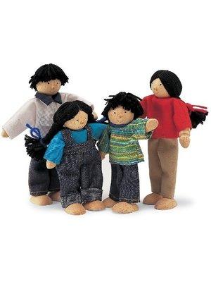 Tidlo Poppenhuispoppetjes - Aziatische familie