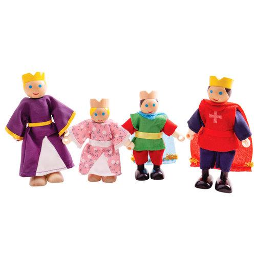 BigJigs Bigjigs - Poppenhuispoppetjes - Koninklijke familie
