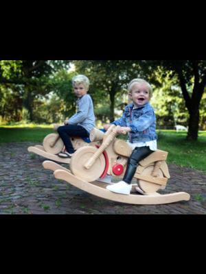 Van Dijk toys Hobbel motor - Beukenhout