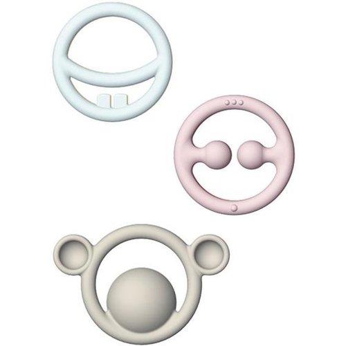 Bijtringen - Nigi, Nagi & Nogi - Siliconen rubber - 3dlg.