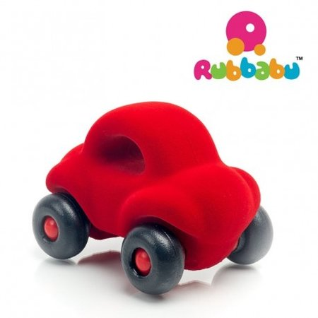 Rubbabu - Kleine rode auto met handgreep