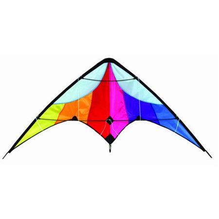 Delta Delta - Vlieger - Stuntvlieger - Regenboog - 130x60 cm
