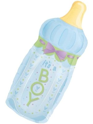 Folat Amscan - Folieballon - Babyfles - Jongetje - 79cm - Zonder vulling