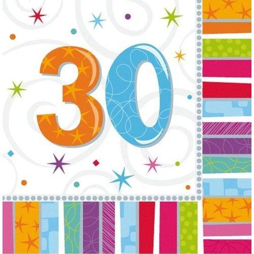 Amscan Amscan - Servetten - Radiant birthday - 30 jaar