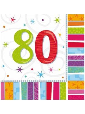 Amscan Amscan - Servetten - Radiant birthday - 80 jaar