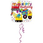 Anagram Anagram - Folieballon - Happy birthday - Auto's - Zonder vulling - 43cm
