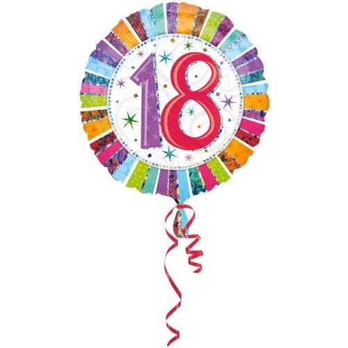 Anagram Anagram - Folieballon - Radiant - 18 Jaar - Zonder vulling - 43cm
