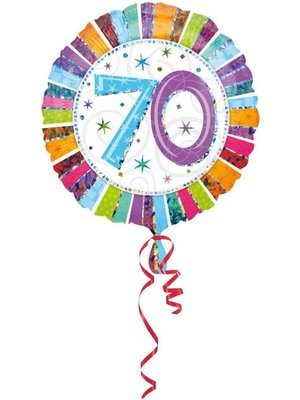 Anagram Anagram - Folieballon - Radiant - 70 Jaar - Zonder vulling - 43cm