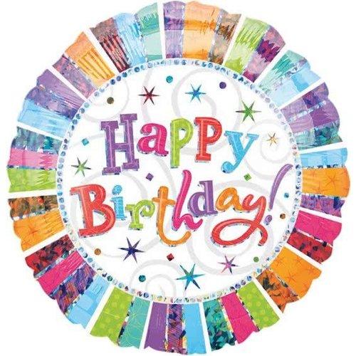Anagram Folieballon - Happy birthday - Radiant - 43cm - Zonder vulling