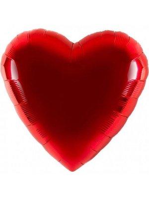Anagram Folieballon - Hart - Rood - 43cm - Zonder vulling