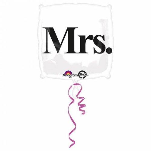Anagram Anagram - Folieballon - Shape - Mrs. - Zonder vulling - 43cm