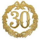 Witbaard Deurbord - Huldekrans - 30 Jaar - Goud