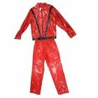 Bladwijzer Kostuum - Michael Jackson - Rood/zwart - M/L