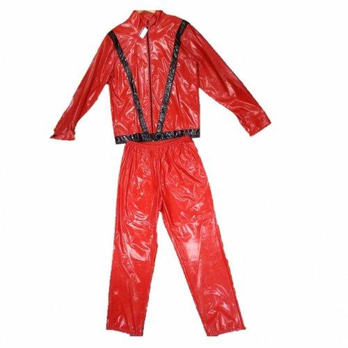 1234feest 1234feest - Kostuum - Michael Jackson - Rood/zwart - M/L