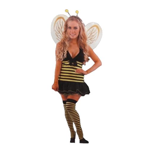1234feest 1234feest - Kostuum - Miss Bee - Incl. vleugels - L