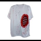 Bladwijzer Bladwijzer - Shirt - Open ribbenkast - Wit/bloederig - S