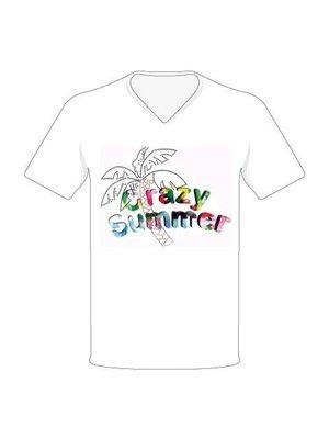 Paperdreams T-shirt - Crazy summer - Wit - L