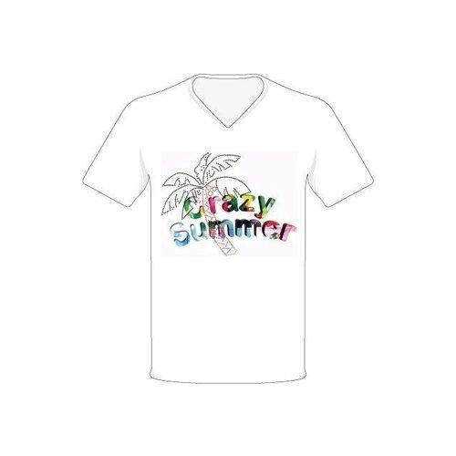 1234feest T-shirt - Crazy summer - Wit - S