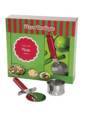 Bladwijzer Boekbox - Mini pizza's maken - Recepten boek, pizza snijder & uitsteekvorm
