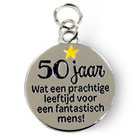 Charms for you Charms for you - Bedeltje - 50 Jaar