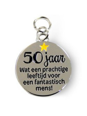 Charms for you Bedeltje - 50 Jaar - Charms for you