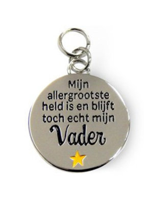 Charms for you Bedeltje - Allergrootste held mijn vader - Charms for you