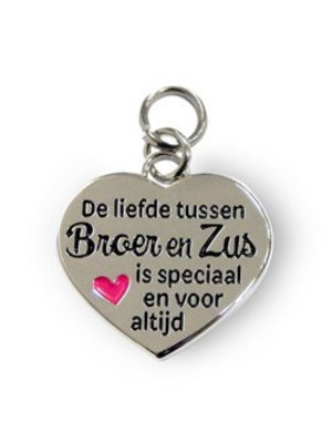 Charms for you Bedeltje - Broer & zus - Charms for you