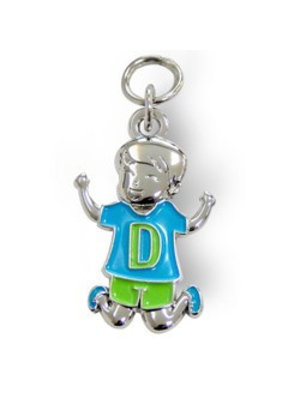 Charms for you Bedeltje - D - Jongen - Charms for you