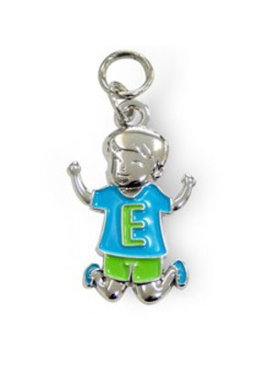 Charms for you Bedeltje - E - Jongen - Charms for you