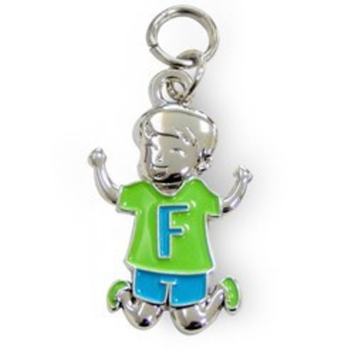 Charms for you Bedeltje - F - Jongen - Charms for you