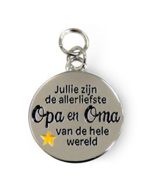 Charms for you Bedeltje - Allerliefste Opa & oma - Charms for you