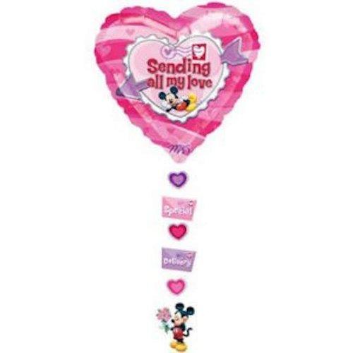 Disney Disney - Folieballon - Supershape - Hart - Sending all my love - Zonder vulling - 86x61cm