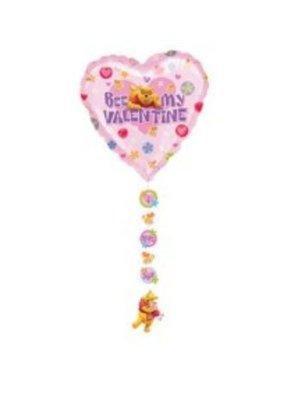 Disney Disney - Folieballon - Winnie de Poeh - Bee my valentine - met onderhangers