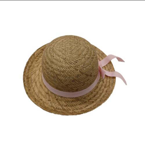 Egmont Egmont - Hoed - Kind - Riet - Met roze band