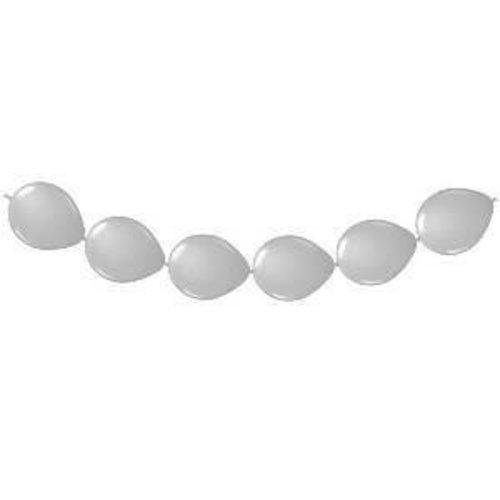 Folat Ballonnenslinger - Zilver - 3m