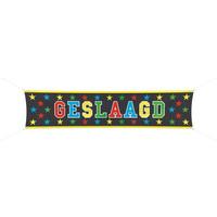 Banner - Geslaagd - 180x40cm