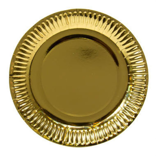 Folat Folat - Borden - Karton - Metallic goud - 8st. - 23cm