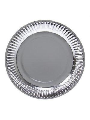 Folat Folat - Borden - Karton - Metallic zilver - 8st. - 23cm