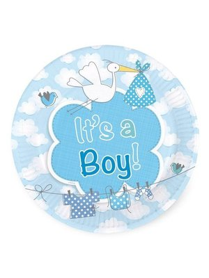 Folat Folat - Bordjes - It's a boy - 18cm - 8st.