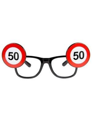 Folat Bril - Verkeersbord - 50 Jaar