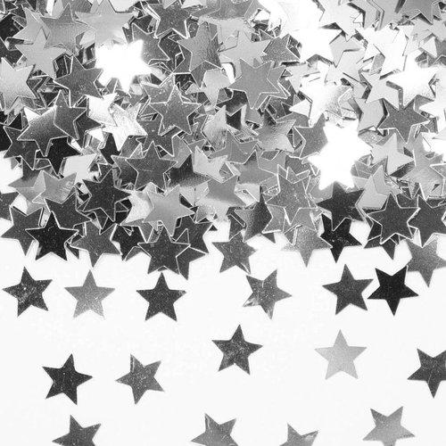Folat Confetti/tafeldecoratie - Sterren - Zilver
